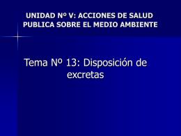 Tema: 13 disposición de excretas