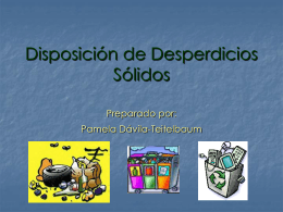 Disposición de Desperdicios Sólidos