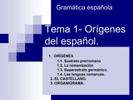 Los Orígenes del Español