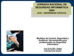 Modelos de Control, Seguridad y Auditoría