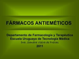 Fármacos antieméticos - Departamento de Farmacología y
