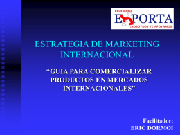 ESTRATEGIA DE MARKETING INTERNACIONAL