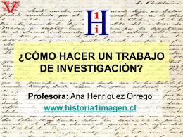 ¿Cómo realizar una investigación histórica?