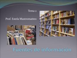 Tema 2 Fuentes de información
