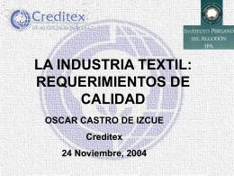 10 CONFERENCIA OSCAR CASTRO - Insituto Peruano del Algodon