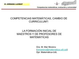 Competencias matemáticas, evaluación y universidad