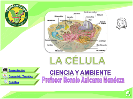 La Célula (en power point) - Ing. Ronnie Anicama Mendoza
