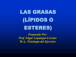 GRASAS (LÍPIDOS)