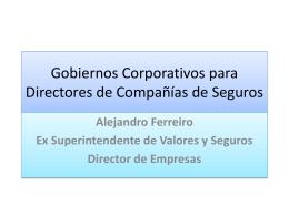 Gobiernos Corporativos para Directores de Compañías de Seguros