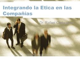 Integrando la Etica en las Compañías