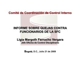 Informe sobre quejas contra funcionarios de la SFC en el año 2008
