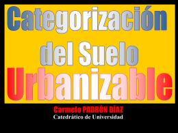 Categorización del Suelo Urbanizable