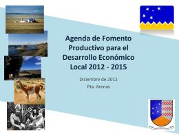 Agenda de Fomento Productivo para el Desarrollo Económico Local