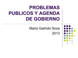 Problemas Públicos y Agenda de Gobierno