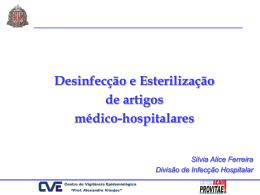 Desinfecção e Esterilização de artigos médico