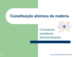 Constituição atómica da matéria