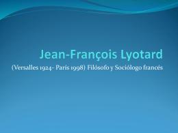 Jean-François Lyotard