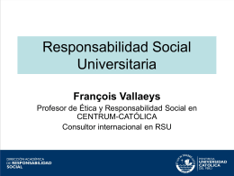 rs en universidades - por francois vallaeys
