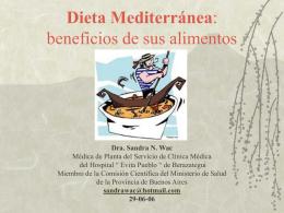Dieta Mediterranea: beneficios de sus alimentos