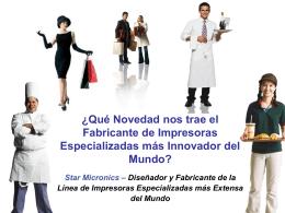 Slide 1 - Star Micronics