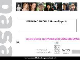 Femicidio en Chile. Una radiografía. 2008