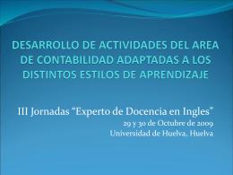 desarrollo de actividades de contabilidad adaptadas a los distintos