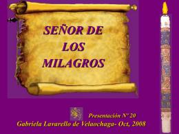 SEÑOR DE LOS MILAGROS 2008 - Holismo Planetario en la Web