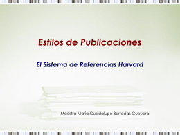 Sistema de Referencias Harvard