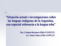 lengua chaqueña de la familia guaycurú