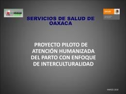 Proyecto Piloto Atención Humanizada del Parto