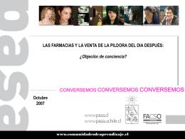 Derecho y objeción de conciencia a anticoncepción de