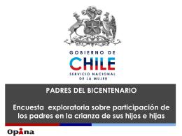 PADRES DEL BICENTENARIO: Encuesta exploratoria sobre