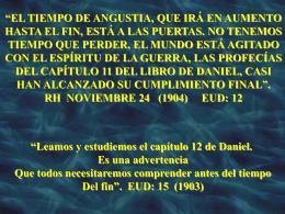 Los 1290 y 1335 días de Daniel