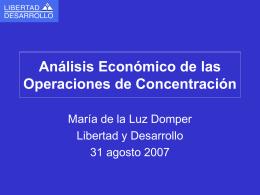 Mercado y Concentración - Centro de Libre Competencia UC