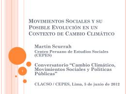 presentación - Industrias Extractivas, conflictos sociales e
