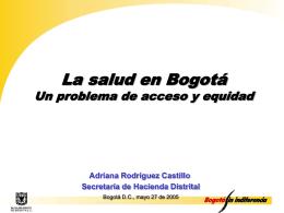 La salud en Bogotá