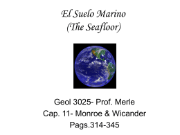 El Suelo Oceanico (The Seafloor)