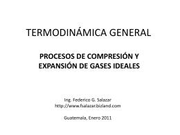 PV k = constante - Federico G. Salazar