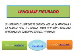 LENGUAJE FIGURADO - Universo y Literatura