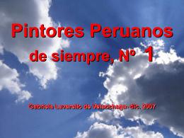 Pintores Peruanos - Holismo Planetario en la Web