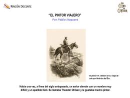 EL PINTOR VIAJERO - Los Ojos de Ohlsen