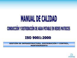 MANUAL DE CALIDAD - Acueducto de Bogotá