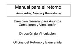 Breve manual para el retorno - Consulado General del Uruguay