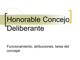 Honorable Concejo Deliberante Funcionamiento
