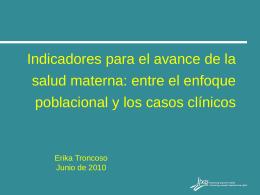 Propuesta de Indicadores. Erika Troncoso (IPAS México, A.C.)
