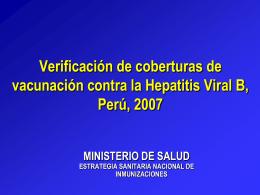 Población a vacunar - Ministerio de Salud