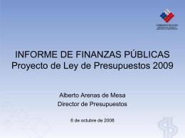 Presentación de PowerPoint - Dirección de Presupuestos