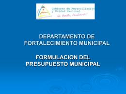 Presupuesto Municipal.