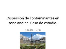 Estudio de dispersión de contaminantes de la chimenea de La Oroya