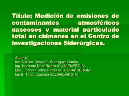 2. Medición de emisiones de contaminantes